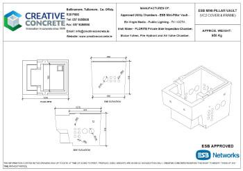Creative Concrete ESB Mini Pillar Vault VC2 Cover and Frame