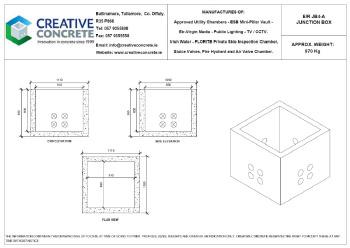 Creative Concrete Eir JB4-A Junction Box