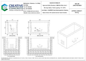 Creative Concrete Eir JB6 Junction Box