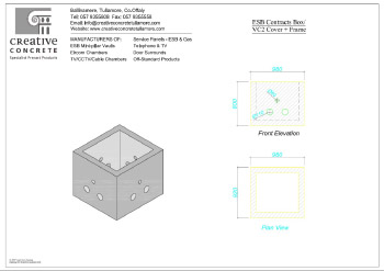 Creative Concrete ESB Contracts Box VC2 Cover and Frame