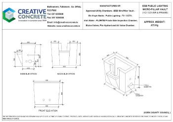 Creative Concrete ESB Public Lighting Micro-Pillar Vault