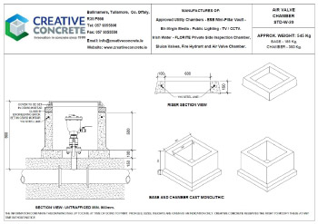 Creative Concrete Irish Water Air Valve Chamber