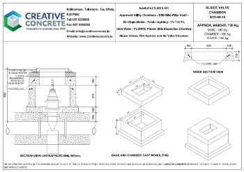Creative Concrete Irish Water Sluice Valve Chamber 900mm