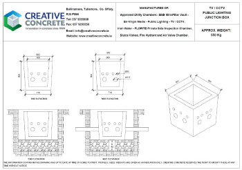 Creative Concrete Virgin Media TV CCTV Public Lighting Junction Box