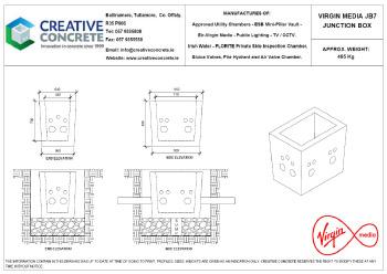Creative Concrete Virgin Media JB7 Junction Box