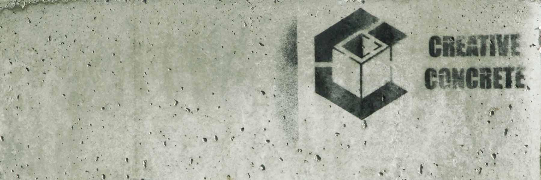 Creative Concrete sprayed logo on concrete1800 600 slider
